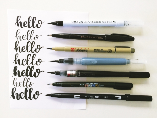 Lets compare brush pens! u2013 lyss tyler letters