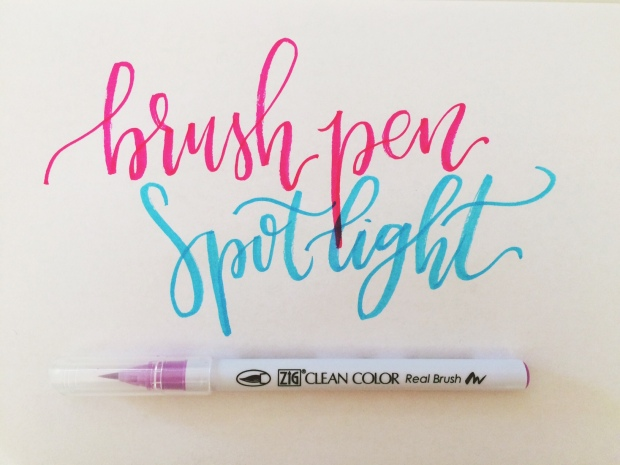 Brush pen spotlight: zig clean color u2013 lyss tyler letters